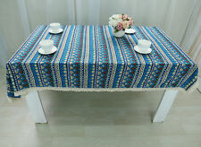 Bohemian Style Rectangle Tablecloth Linen Lace Table Cloth Dinning Table Cover