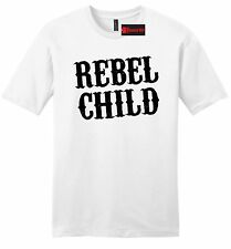 Rebel Child Mens Soft T Shirt Country Music Redneck Tee Southern Rebel Gift Z2