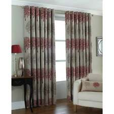 Paoletti Oakdale trees readymade eyelet curtains red