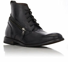 John Varvatos Star USA Men's Star Zip Wrap Boot Black Leather $228 msrp NIB