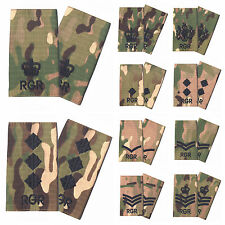 Pair Multicam Royal Gurkha Rifles RGR Slides MTP Gurkha Rifles Rank Slides