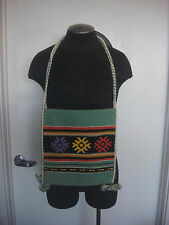 New Vintage Hand Woven Rayon Staple Purse Boho Shoulder Bag Tote Made In Greece