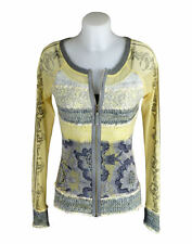 LULU H French Paris Style Lemon Print Casual Top Cardigan