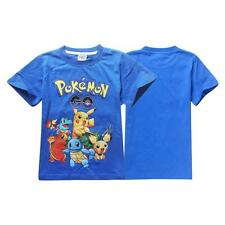 New Pokemon GO Kid Boys Toddlers Cute Pikachu Poke Ball Tops T Shirt Casual Blue