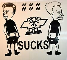 Bevis And Buthead Moons ?? Sucks Funny Vinyl Decal Window Sticker