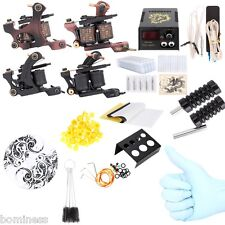 Complete Tattoo Kit Power Supply 2 Machine Guns Shader Liner 20  Needles