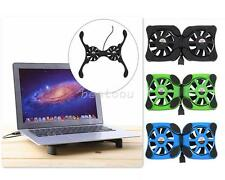 USB Foldable Folding Cooler Cooling Fan Pad with 2 Fan for Laptop Notebook I2D7