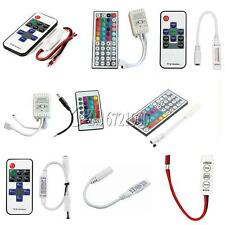 3/10/24/44 Keys IR Remote Controller For 3528 5050 RGB LED Strip Light 12V C