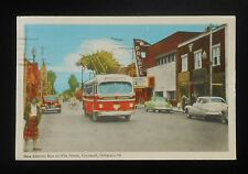 1951 New Electric Bus on Pitt Street Palace Theatre Old Cars Trolley Cornwall ON