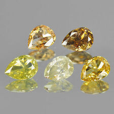 1.00cts, 5pcs Pear Fancy Multi Color Natural Loose Diamonds Lot Free Shipping