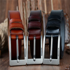 Men's Designer Belt Top Cowhide Genuine Leather Belt Alloy Pin Buckle Waistband