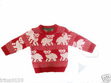 Primark Baby Girl`s Or Boy`s Christmas Red Jumper Long Sleeve Size 9-12mths