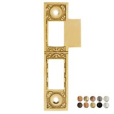 """4 5/16"""" SOLID BRASS MORTISE LOCK ORNATE STRIKE PLATE ~ 3 FINISHES ~ NEW! SP02"""