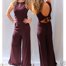 NEXT BERRY WIDE LEG BACKLESS All In One JUMPSUIT PLAYSUIT PARTY DRESS UP 14 peti
