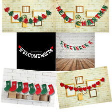 Christmas Theme Flags Bunting Garland Banner Party Holiday Wall Hanging Decor