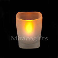 New White LED Tealight Candle + Candle Holder- Batteries Inc. 12, 48 or 120 Pack