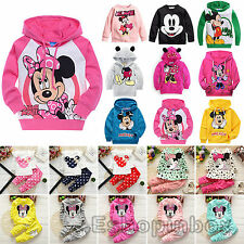 Mickey Minnie Kids Girls Sweatshirt Boys Hoodie Clothes Jumper Pants Set Outfits