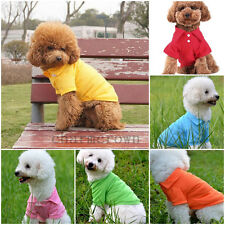 Cute Pet Puppy Costume Polo Shirt Small Dog Cat Pet Clothes Apparel T-Shirt Cozy