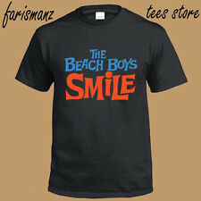New The Beach Boys *Smile Rock Band Legend Men's Black T-Shirt Size S to 3XL