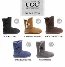 OZLANA  Double face Sheepskin Bailey Button water resistant Foldable UGG boot