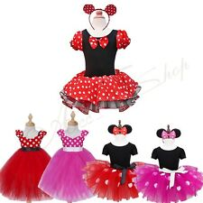 Baby Girls Polka Dots Minnie Mouse Dress Outfit Party Ballet Costume Tutu Skirt