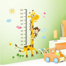 2016 NEW Giraffe Monkey Removable Vinyl Wall Decal Stickers Height Chart Measure