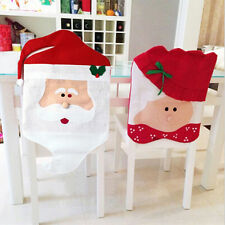 Mr/Mrs Santa Claus Dining Chair Covers Christmas DecorationsXmasFestiveParty CXF