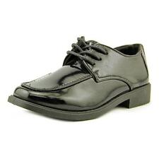 Josmo 13-6 Boys Mock Toe Lace Youth  Square Toe Patent Leather  Oxford NWOB