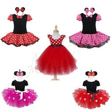 Baby Girls Kids Minnie Mouse Costume Party Outfits Princess Fancy Tutu Dress up