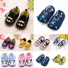 Baby Toddler Boy Girl Soft Sole Marvel Heroes Crib Shoes Warm Prewalker 0-18 M