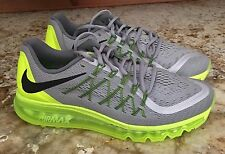 NEW Mens 9 NIKE AIR MAX 360 2015 Reflective Silver Volt Running Training Shoes