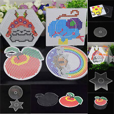 Hot Fashion Perler Beads Hama Fuse Beads Clear Square Design DIY Pegboards