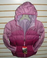 THE NORTH FACE GIRLS REVERSIBLE DOWN MOONDOGGY JACKET-A2TME- W PURPLE- NEW 2016