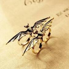 Chic Punk Vintage Adjustable Vampire Animal Bat Wing double Fingers Ring Gift
