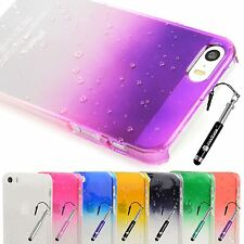 Slim 3d Clear Rain Water drop Hard Case Cover for Apple iPhone 5s / 5