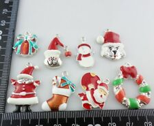 Holiday gifts Mixed Alloy oil drip Christmas Charms Pendants - Snowman, Sock