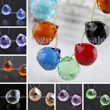 22X20mm Glass Ball Findings Teardrop Faceted Crystal Pendants Loose Bead Jewelry