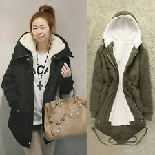 Fashion Winter Women  Warm Thicken Fleece Long Hoody Coat Jacket Outerwear Parka