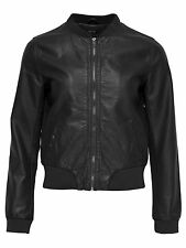 Ladies Bomber Jacket LEATHER JACKET ADELE FAUX LEATHER JACKET black 15117213