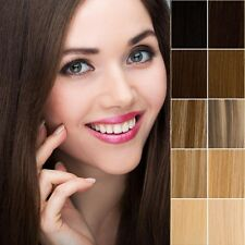 Ultimate Luxury Clip In 100% Remy Human Hair Extensions Full Head US SELL HQ477