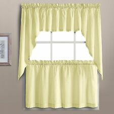 Dorothy Swiss Dot Kitchen Curtain - Yellow - Tiers, Swags, Valances - NEW !