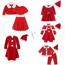 Baby Toddler Girls Christmas Santa Costume Outfit Child Xmas Dress Clothing Set