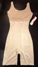 NEW Womens S SPANX Hide Sleek Nude Firm Control Tank Slip Suit Bodysuit Shorts