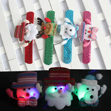 LED Slap Band Glowing Wristband Light Up Bracelet For Christmas Xmas Party Decor