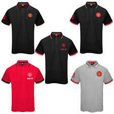 Manchester United Football Club Official Soccer Gift Mens Crest Polo Shirt