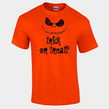 Nightmare Before Halloween Trick Or Treat Smiling Jack Unisex T Shirt S-5XL