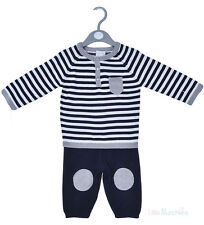 Baby Boys Knitted Striped Jumper & Pant Set (0-12 Months)