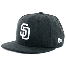 New Era 59Fifty San Diego Padres Heather Black Fitted Hat (HBK WH) Cap