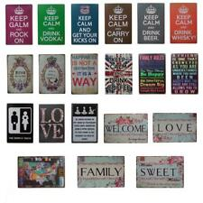 Shabby Chic Metal Tin Signs Plaque Bar Club Wall Home Decorative Posters 20x30cm