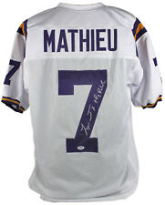"Lsu Tyrann Mathieu ""Honey Badger"" Authentic Signed White Jersey PSA/DNA"